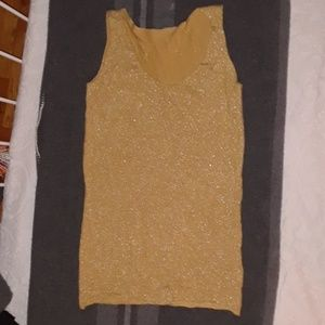 Tops - Silvery and mustard tank top